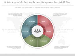Holistic Approach To Business Process Management Sample Ppt Files
