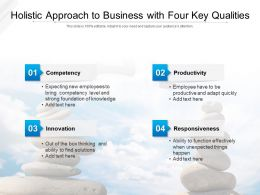 Holistic Approach To Business With Four Key Qualities