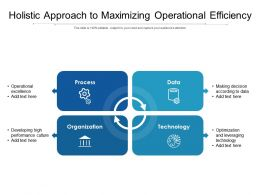 Holistic Approach To Maximizing Operational Efficiency