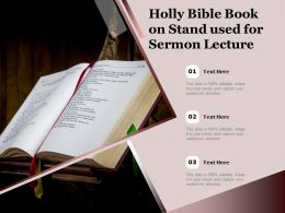 Holly Bible Book On Stand Used For Sermon Lecture