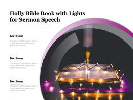 Holly Bible Book With Lights For Sermon Speech