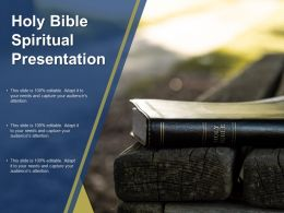 Holy Bible Spiritual Presentation