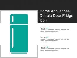Home Appliances Double Door Fridge Icon
