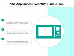 Home Appliances Oven With Handle Icon