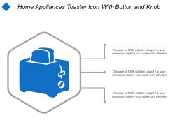 Home Appliances Toaster Icon With Button And Knob