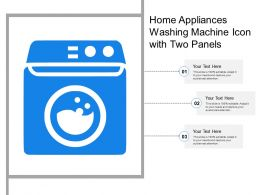 Home Appliances Washing Machine Icon With Two Panels