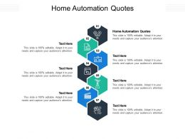 Home Automation Quotes Ppt Powerpoint Presentation Slides Show Cpb