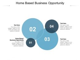 Home Based Business Opportunity Ppt Powerpoint Presentation Slides Layout Ideas Cpb