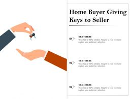 Home Buyer Giving Keys To Seller