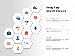 Home Care Clinical Reviews Ppt Powerpoint Presentation Gallery Vector