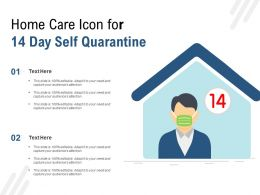 Home Care Icon For 14 Day Self Quarantine