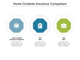 Home Contents Insurance Comparison Ppt Powerpoint Presentation File Master Slide Cpb
