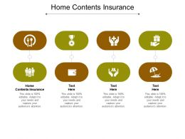 Home Contents Insurance Ppt Powerpoint Presentation Infographics Skills Cpb