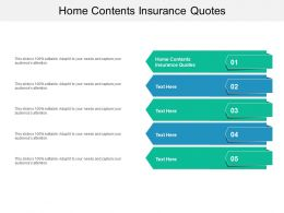Home Contents Insurance Quotes Ppt Powerpoint Presentation Icon Graphics Cpb