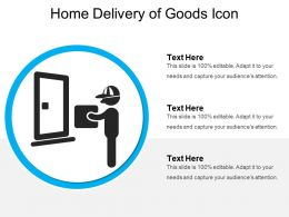 Home Delivery Of Goods Icon
