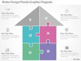 Home Design Puzzle Graphic Diagram Flat Powerpoint Design