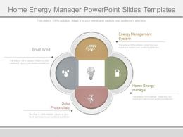 Home Energy Manager Powerpoint Slides Templates