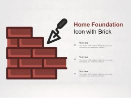 Home Foundation Icon With Brick