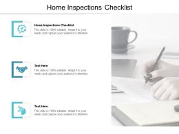 Home Inspections Checklist Ppt Powerpoint Presentation Icon Outfit Cpb
