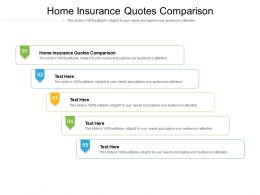 Home Insurance Quotes Comparison Ppt Powerpoint Presentation Layouts Outfit Cpb