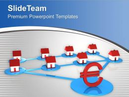 Home Interconnected With Euro Interrelated PowerPoint Templates PPT Themes And Graphics 0213