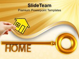Home Key Real Estate Security PowerPoint Templates PPT Themes And Graphics 0213