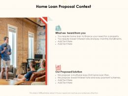 Home Loan Proposal Context Ppt Powerpoint Presentation Layouts Show