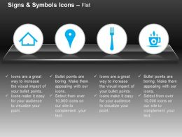Home Location Fork Tea Breakfast Venue Ppt Icons Graphics