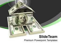 Home Made From 100 Dollar Bills PowerPoint Templates PPT Themes And Graphics 0213