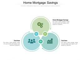 Home Mortgage Savings Ppt Powerpoint Presentation Layouts Infographic Template Cpb