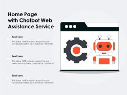 Home Page With Chatbot Web Assistance Service