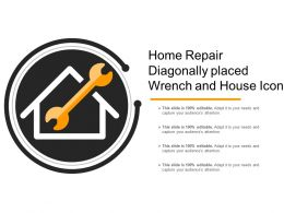 Home Repair Diagonally Placed Wrench And House Icon