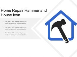Home Repair Hammer And House Icon