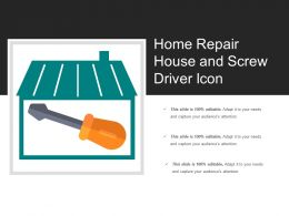 Home Repair House And Screw Driver Icon