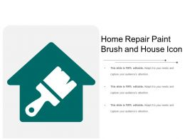 Home Repair Paint Brush And House Icon