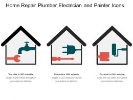 Home Repair Plumber Electrician And Painter Icons