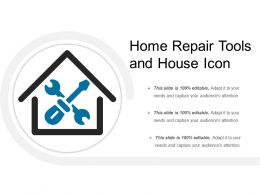 Home Repair Tools And House Icon