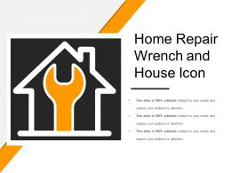 Home Repair Wrench And House Icon