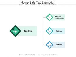 Home Sale Tax Exemption Ppt Powerpoint Presentation Ideas Outfit Cpb