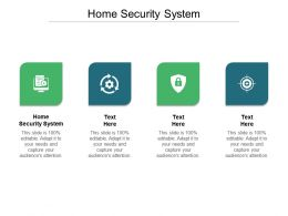 Home Security System Ppt Powerpoint Presentation Styles Format Ideas Cpb