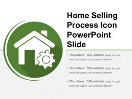 Home Selling Process Icon Powerpoint Slide