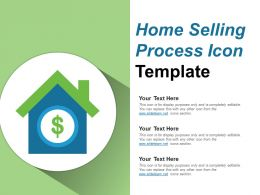 Home Selling Process Icon Template