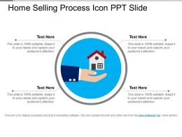 Home Selling Process Icons Ppt Slide