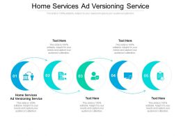 Home Services Ad Versioning Service Ppt Powerpoint Presentation Infographics Graphics Cpb