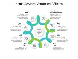 Home Services Versioning Affiliates Ppt Powerpoint Presentation Layouts Graphics Cpb