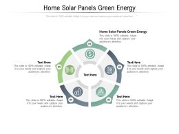 Home Solar Panels Green Energy Ppt Powerpoint Presentation Pictures Objects Cpb