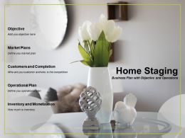 Home Staging Business Plan With Objective And Operations