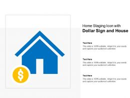 Home Staging Icon With Dollar Sign And House
