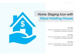 Home Staging Icon With Hand Holding House