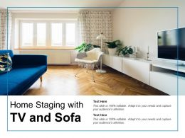Home Staging With Tv And Sofa